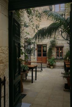 Typical Maltese courtyard. Looking for a traditional Maltese home? Visit www.belair.com.mt
