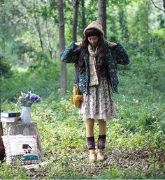 http-::wisperings.tumblr.com:post:80731892189 Mori Fashion, Mori, Mori Kei, Mori Style,