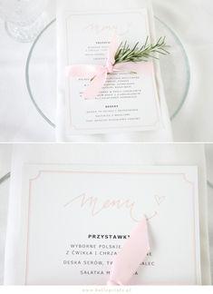 FREE printable wedding menu    Karty Menu w kolorze różowym za darmo