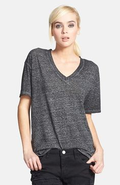 Leith Oversized V-Neck Tee available at #Nordstrom