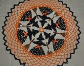 Halloween Witches And Brooms Crochet Doily Pattern