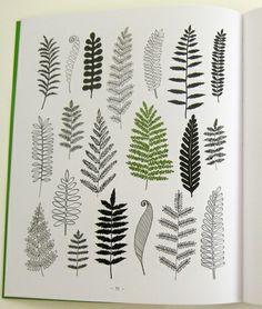 Hand drawn leaves via Print & Pattern
