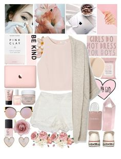 """Little Firecracker, Brown Hair"" by nsrogsy3 ❤ liked on Polyvore featuring Sans Souci, Topshop, Clé de Peau Beauté, Accessorize, Chanel, SemSem, MANGO, Herbivore, NARS Cosmetics and CLEAN"