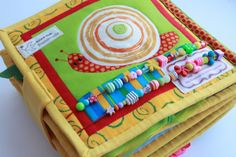 Quiet Book Page - Counting Snail | Handmade by Mom