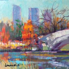 DPW Fine Art Friendly Auctions - central park by salvatore greco