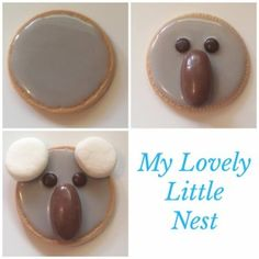 Koala biscuits would make a great treat for Australia Day, and I have created an easy no bake recipe, so they can be made with very little fuss. Australian Party, Australian Food, Australian Animals, Fete Ideas, Brunch Ideas, Party Ideas, Australia Day Celebrations, Australia Crafts, Brisbane