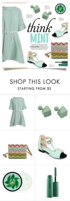 """Think mint!"" by mahafromkailash ❤ liked on Polyvore featuring MAC Cosmetics, sandals, mint, under100, dressunder100 and summer2017"