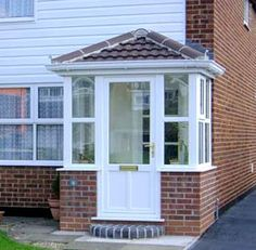 Products » Porches   Trustyle UK   UPVC Porches   Leicester Derby Nottingham & Love this small enclosed porch with glass doors - prefer a pitched ... Pezcame.Com