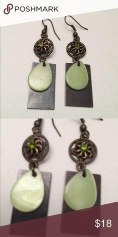 Vintage style earrings Vintage style earrings with Swarovski crystals , new , hand work vintage style Jewelry Earrings