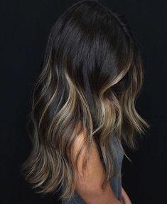 Balayage Hair Blonde, Brown Blonde Hair, Brunette Hair, Dark Hair, Brunette Color, Medium Hair Styles, Short Hair Styles, Hair Medium, Medium Long