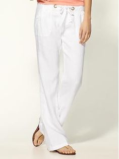 white linen pants look so casually chic    escape linen pants by sanctuary : piperlime
