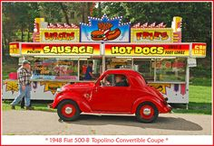 1948 Fiat 500 at the sausage stand