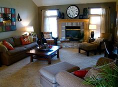 Transitional Living Room, Designer: Lorrie- Interior Design Omaha, Lincoln, and Council Bluffs--- www.fluffyourstuff.com