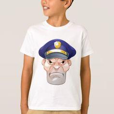 Mean Angry Cartoon Policeman T-Shirt