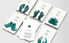 Each of the five cards depicts a different part of the human body in perfect balance. Calligraphy brushstrokes and the natural depth of watercolour ink soothe and reassure without effort. #moocard #luxe #businesscard