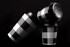 Black and white gingham cups complete their branding package.