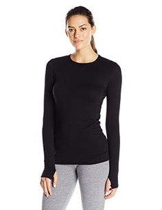 cc6af5b2e0 Cuddl Duds Womens Comfortwear Long Sleeve Crew Neck Top Black Small   Learn  more by visiting