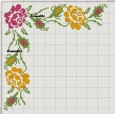 Χειροτεχνήματα: Λουλούδια σταυροβελονιά (cross stitch flowers ) by kelly.meli