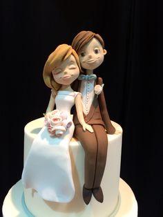 Fondant Cake Toppers, Fondant Figures, Fondant Cakes, Custom Wedding Cake Toppers, Wedding Topper, Wedding Desserts, Wedding Cakes, Serger Patterns, Jewelry Dish