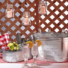 Take a look at the Porch Party Collection event on zulily today! 30th Birthday Parties, Grad Parties, White Trash Bash, Drink Bucket, Redneck Party, Mason Jar Wine, Linen Napkins, Party Time, Porch