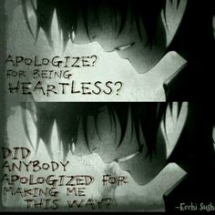 Wanna know about your favorite anime quotes? :D PM me what anime you lile, So I can get those love quotes! Angst Quotes, Sad Anime Quotes, Creepypasta Quotes, Dark Quotes, Depression Quotes, Les Sentiments, Anime Love, True Quotes, Inspirational Quotes