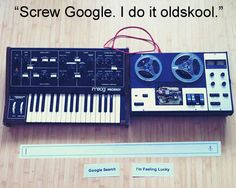 """Screw #Google. I do it oldskool.""  YES! #EDM"