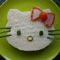 Hello Kitty Sandwich for my future kids lunch box Cute Food, Good Food, Yummy Food, Sandwich Original, Chat Hello Kitty, Kitty Kitty, Food Art For Kids, Food Gallery, Hello Kitty Birthday