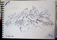 """Sketch for my piece on """"The Maxx"""" production I did in 2011."""