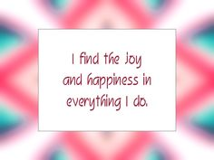 Daily Affirmation for May 28, 2014
