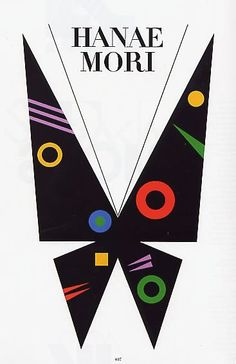 Ikko Tanaka, poster artwork for Hanae Mori, Japan. Via Museum für Gestaltung. Japan Design, Graphisches Design, Ikko Tanaka, Japanese Poster Design, Design Graphique, Grafik Design, Graphic Design Inspiration, Japanese Art, Vintage Posters