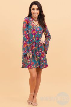 Winding Road Dress Monday Dress, Marley Lilly, Winding Road, Monogram Gifts, High Neck Dress, Unique, Jumpsuits, Rompers, Dresses