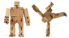 {Cubebot} wood robot! totally awesome! lol alex made these a while back and the boys learned to make them too