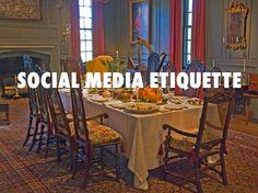 Social media etiquette for business.