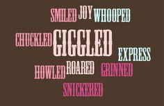 Laughed Descriptive Words
