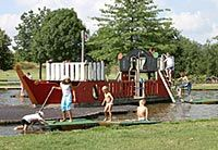 Piratenboot01--Free park with water and ship Address: Brunnenstraße 66424 Homburg Germany