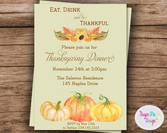 harvest party invitation