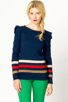 Border Stripe Sweater