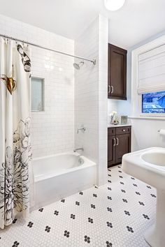 Appealing Subway Tile Ideas Bathroom Decorating Ideas In Bathroom  Transitional Design Ideas With Appealing Beadboard Black And White Tile  Floor Carrera ...