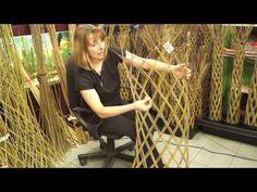 Видео-обзор. Живое плетеное дерево из ивы. - YouTube