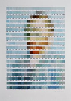 "loverofbeauty: "" Nick Smith: Pantone Portraits """