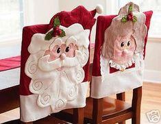 Christmas chair back covers Christmas Chair, Christmas Sewing, Christmas Love, All Things Christmas, Christmas Holidays, Merry Christmas, Christmas Decorations, Christmas Ornaments, Christmas Projects