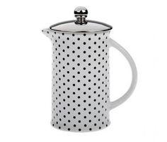 Alege o colectie de accesorii pentru cafea si micul dejun inspirata din cultura vintage americana si ofera mai multa savoare diminetilor tale.Material: portelan si capac din metal