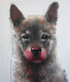 Romulus (from Me Olemme Susi) – Samuli Heimonen Animal Paintings, Cool Art, Nice Art, Artsy Fartsy, Oil On Canvas, Wolf, Images, Creative, Artist