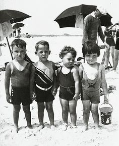 Kids on the Beach cute photography black and white beach kids photo old backandwhite children