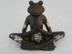 Yoga-Frosch  in Schwarz und Weiß