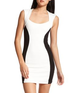 black and white pencil dress from Charlotte Russe, I have this dress!! So cute!!