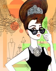 holly golightly anime style