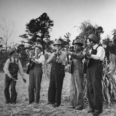 Bluegrass music. I would love to have been able to hear this group pickin' and singin'. Love bluegrass music.