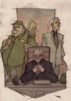 Emperor Palpatine, Grand Moff Tarkin, and Jabba the Hutt