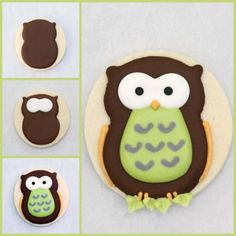 owl cookie using round cutter